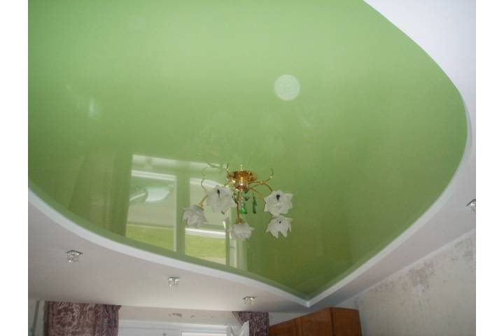 Комбинированный потолок из гипсокартона и натяжного потолка своими руками 385