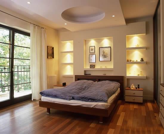Гипсокартон в спальне фото